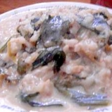 青梗菜のクリームリゾット