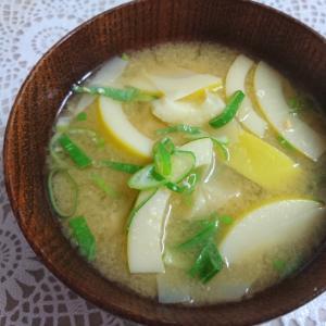 破竹の味噌汁