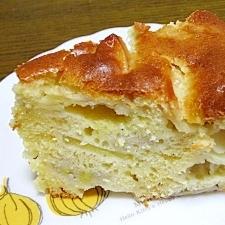 ホットケーキミックスで☆簡単りんご&バナナケーキ