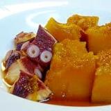 たことかぼちゃの煮物