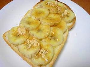 朝食に☆バナナきなこトースト♪