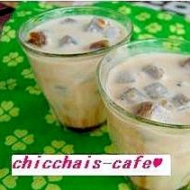夏の定番♪cafe風コーヒーロックミルク
