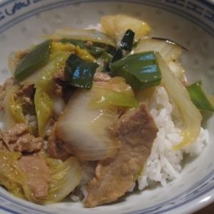 豚肉と白菜のあんかけ中華丼