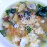 マクロビわかめにんにく梅干スープ