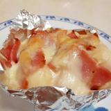 お弁当に!(^^)冷凍里芋とベーコンのチーズ焼き♪