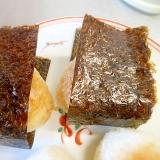 フライパンで焼きおにぎり(醤油・海苔)