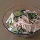 韓国料理☆おつまみや1品に。大根とキュウリのムンチ