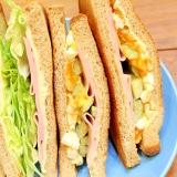 ホイップバターマヨが美味しい♪低糖質サンドイッチ