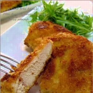 お弁当にも!鶏むね肉のチーズパン粉焼き
