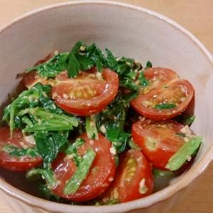 ほうれん草とミニトマトのごまマヨサラダ