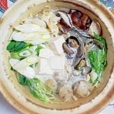 とりごぼうで、お団子を作って、鍋物
