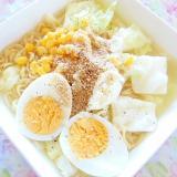 ❤キャベツの芯と卵とコーンの塩ラーメン❤