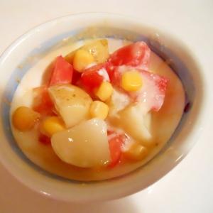 新じゃが芋☆トマト&コーンでうま塩ドレサラダ♪