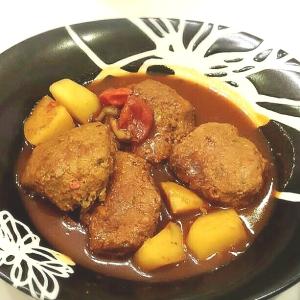 簡単野菜たっぷり!!煮込みハンバーグ☆
