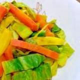 にんじんとキャベツのカレーサラダ