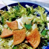 カリポリ大根の漬け物サラダ