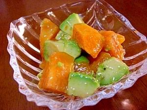 柿とアボカドのサラダ