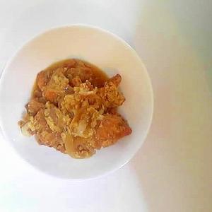 鶏から揚げの卵とじ