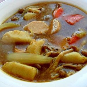 お魚食べてネ❤里芋のカレースープ♪(魚肉ソほか)
