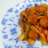 鶏団子と色んなお野菜のケチャップ炒め++