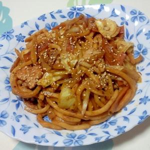 回鍋肉風焼きうどん++