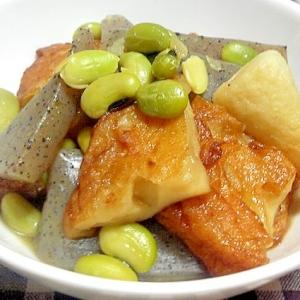 夏っぽく枝豆を入れた煮物
