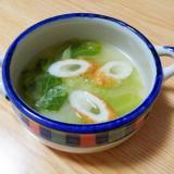キャベツとちくわのスープ
