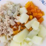 ⁑離乳食カミカミ期⁑まいたけのポテトサラダ