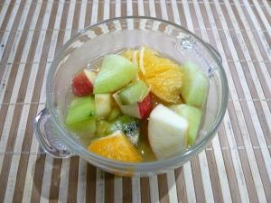 アップルジュースのフルーツポンチ