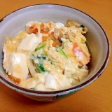 絹豆腐の卵とじ丼( ̄^ ̄)ゞ