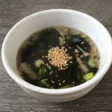 えのきとわかめde韓国海苔スープ♪