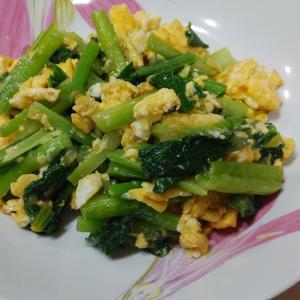 小松菜と卵のササッと炒め