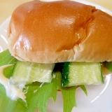 ロールパンで野菜サンド☆
