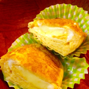 お弁当に★チーズ入り卵焼き★
