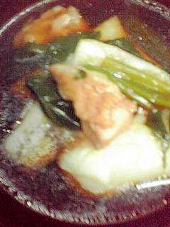 麺つゆで、お雑煮