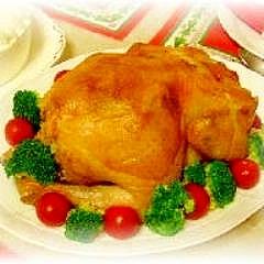 クリスマスに♪スタッフドローストチキン