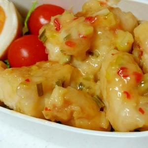 ピリッと美味しい!鶏むねのチリマヨ(*^υ^*)♡