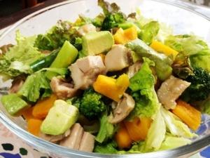 鶏と春野菜のサラダ