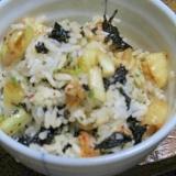簡単 キムチと韓国のりの混ぜご飯