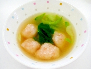 プリップリ☆えびだんごのスープ