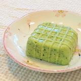 ♪ほぼ豆腐♡かなりリアルなゼラチン小松菜豆腐♪