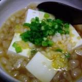 レンジで簡単☆お豆腐揚げ玉煮