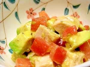 鶏ハムで簡単サラダ♪