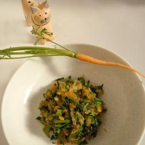 春の葉付ミニミニにんじんでにんじんご飯の素