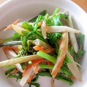ごぼうと菜の花と人参のサラダ