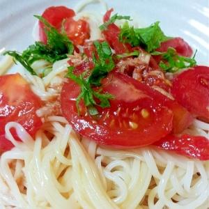 ツナとトマトのぶっかけ麺