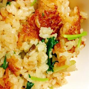 簡単!三つ葉と椎茸の炊き込みご飯