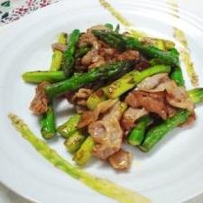 アスパラ豚肉