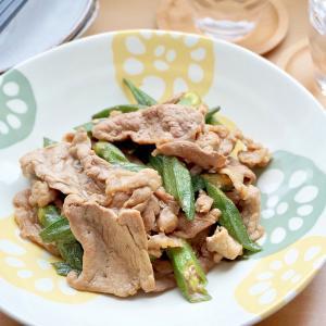 オクラと豚肉のスタミナ炒め