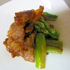 豚肉とアスパラ甘辛炒め